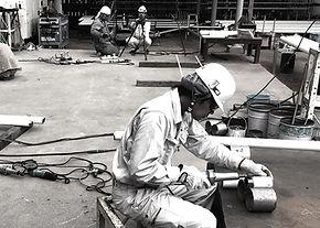 山﨑工業、技術・設備、溶接作業