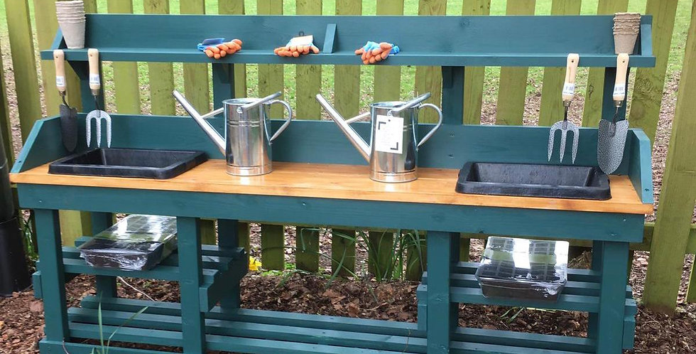 Double Potting Table