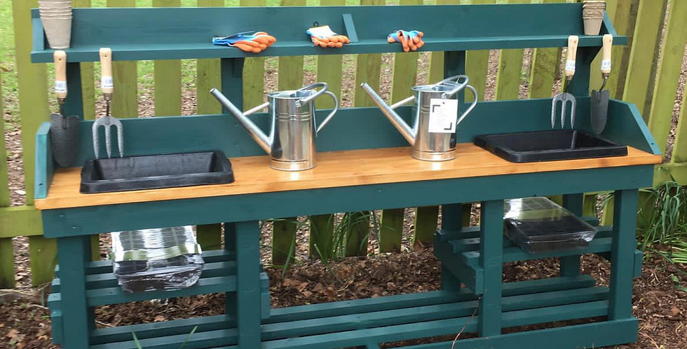Double Potting Table with Engraving