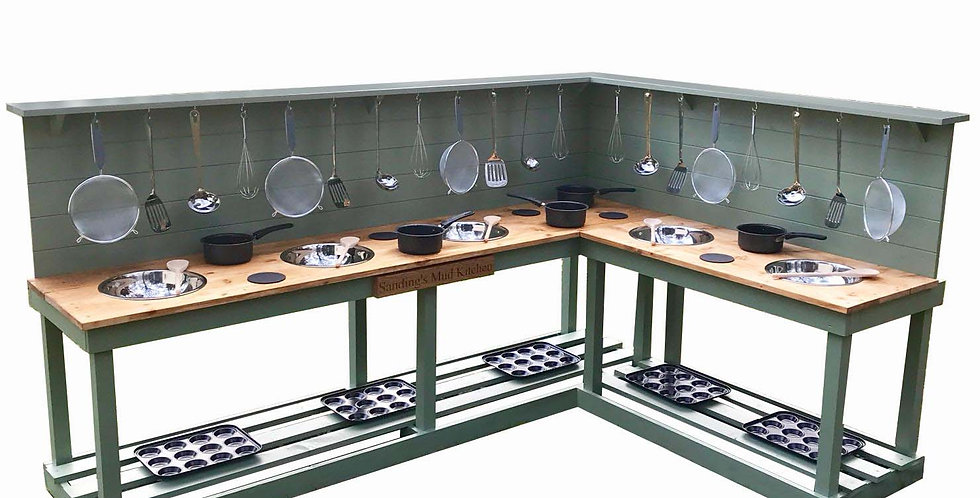 L shape 5 bowl kitchen + 10 ring hob with Engraving