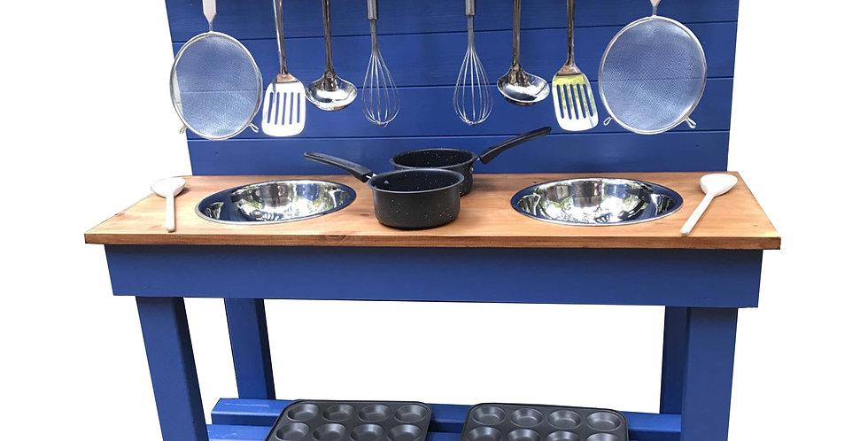 Double Bowl Kitchen + 2 Ring Hob