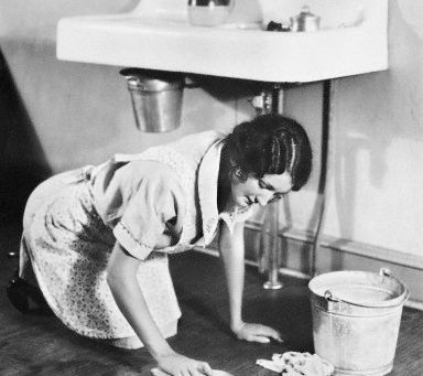 Cleaning.......it's a woman's job.