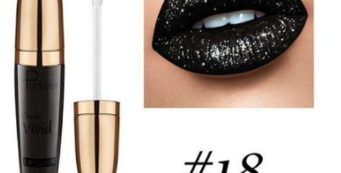 Pudaier Lipstick Glitter Lip Gloss Diamond Shimmer Pigment Metallic Glossy Lip G