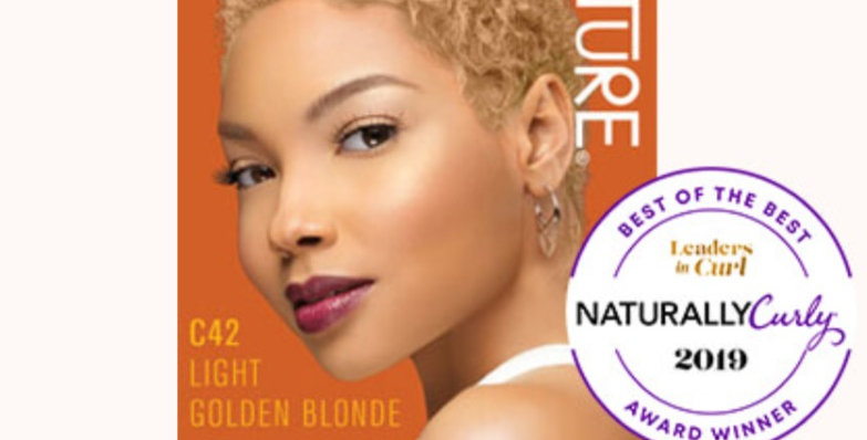 CREME OF NATURE ARGAN COLOR Shea Butter C42 Light Golden Blonde