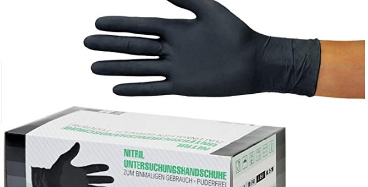 Medical Black Gloves box of 100 - L