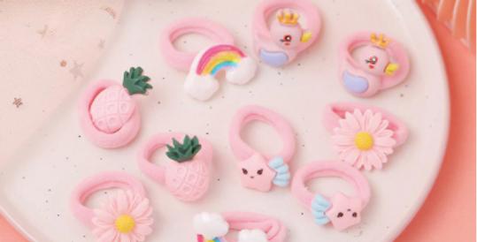 Children Colorful Nylon Elastic Hair Bands For Baby Girls Rubber Bands Set Kids