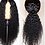 Thumbnail: Kinky Curly Lace Wig Brazilian Remy Pre Plucked Human Hair