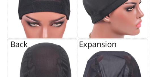 Plussign 6 Pcs/Lot Breathable Mesh Dome Caps For Wigs Making Glueless Spandex Wi