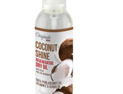Africa's Best Coconut Crème Coconut Shine Regenerative Dry Oil Hair Spray Bottle