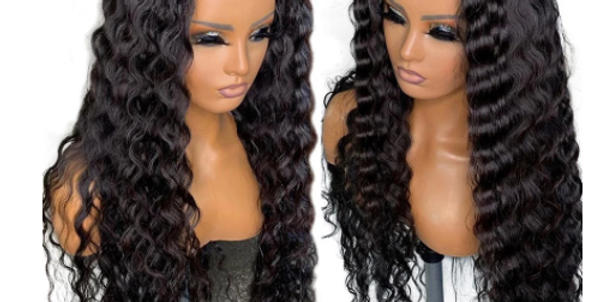 MDH Lace Wig Deep Wave Lace Front Human Hair Wig