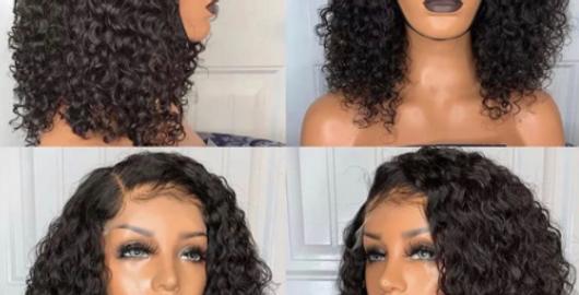 Brazilian Curly Bob Wig 13x4 Deep Wave Lace Front Human Hair Wigs