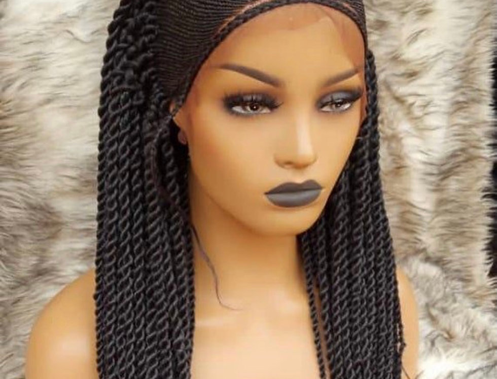Full lace Frontal Human Hair twists