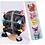 Thumbnail: 10set/card Cartoon Hair Ring Hair Scrunchies Floral Elastic Hair Bands for kids