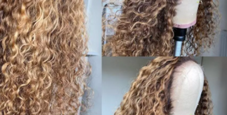 Curly Lace Front Human Hair Wigs Pre-Plucked Remy Lace Front Wigs