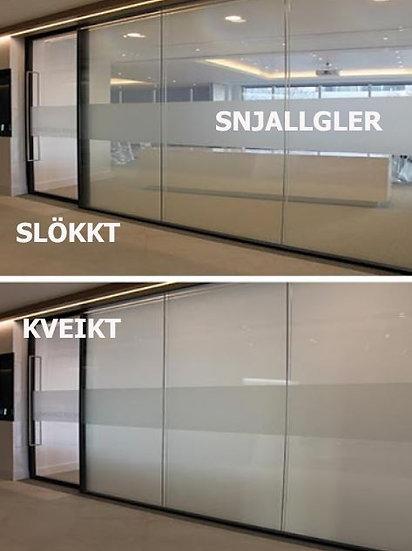 Snjallgler - smartgler - hert gler með rafstýrðri frostfilmu