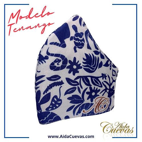 Cubrebocas Tenango Azul