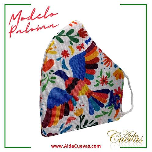 Cubrebocas Paloma
