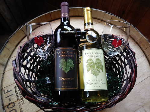 Local Wine Lovers Gift Basket