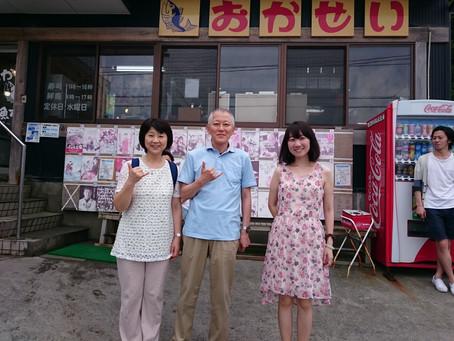 恩師と女川観光