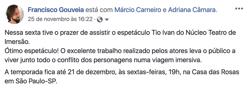 Comentario de Francisco Gouveia 25 nov 2
