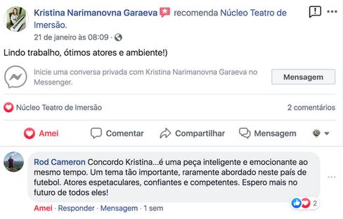 Comentario de Kristia Garaeva e Rod Came
