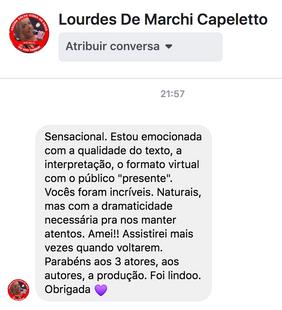 Mensagem de Lourdes De Marchi Capeletto.