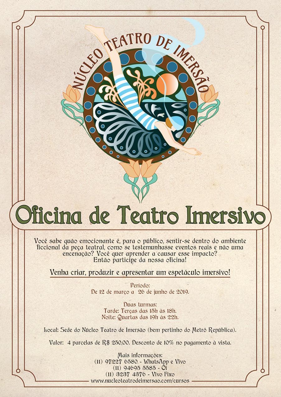 Oficina de Teatro Imersivo / Núcleo Teatro de Imersão