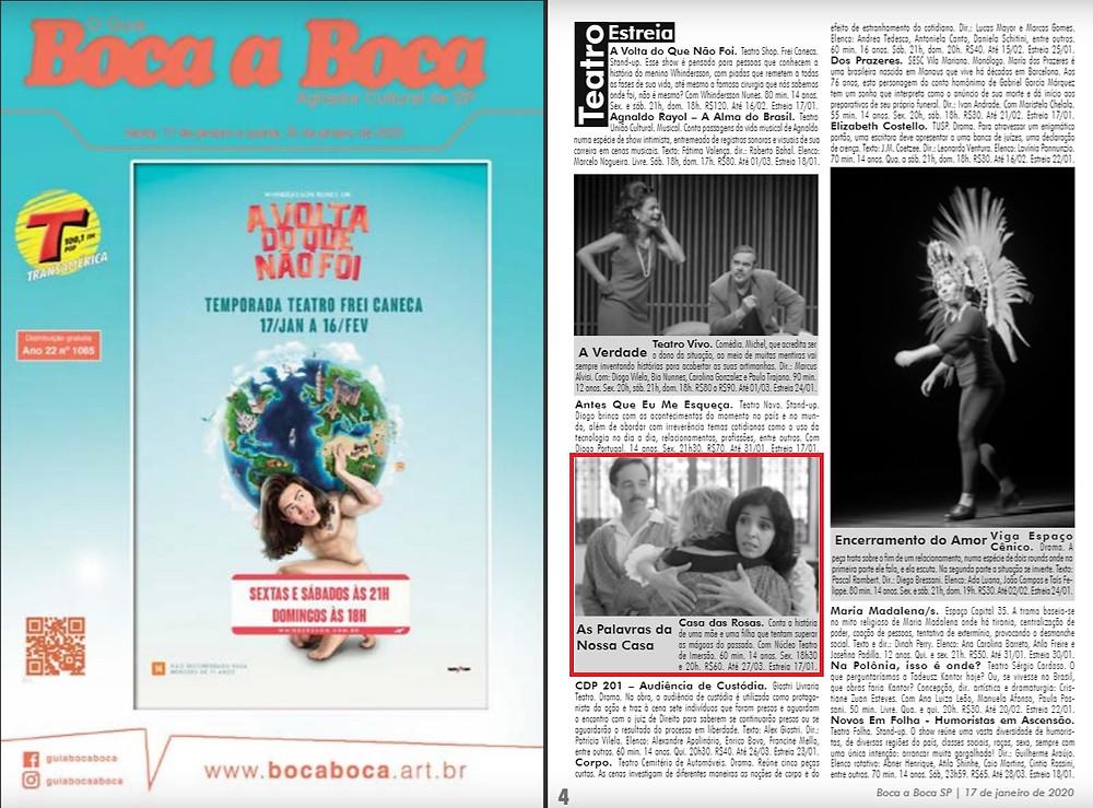 As Palavras da Nossa Casa - Teatro Imersivo - Guia Boca a Boca - São Paulo, SP