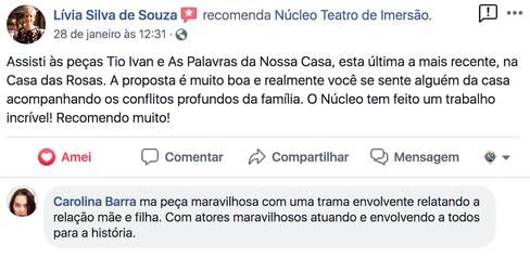 Comentario de Livia Souza e Carolina Bar