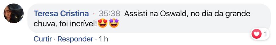 Comentario de Teresa Cristina - Tio Ivan