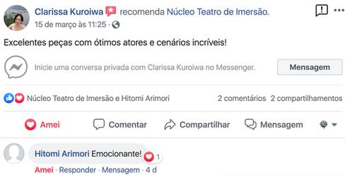 Comentario de Clarissa Kuroiwa e HItomi