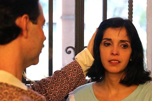 As Palavras da Nossa Casa / Núcleo Teatro de Imersão / ator Glau Gurgel e atriz Adriana Câmara / Espetáculo de teatro imersivo