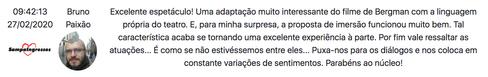 Comentario de Bruno Paixao no Sampa Ingr