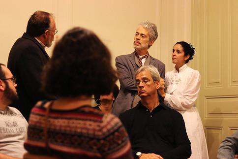 Atores Samuel Luz Marcio Carneiro e Adri