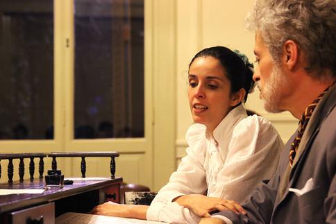 Atores Adriana Camara e Marcio Carneiro