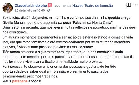Comentario de Claudete Lindolpho.png