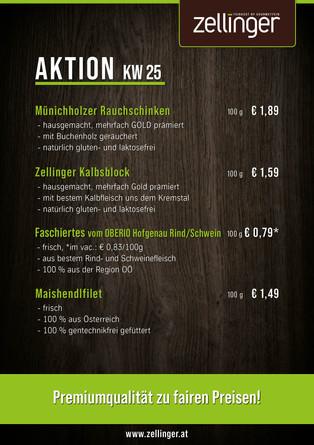Der wöchentliche AKTIONSPLAN KW25