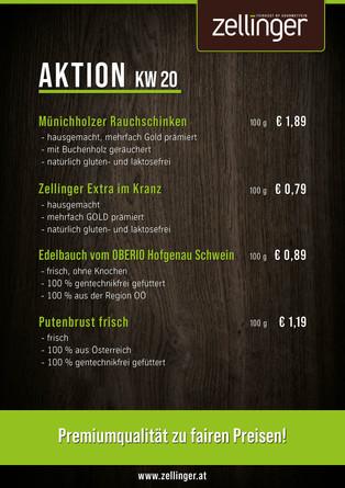 Der wöchentliche AKTIONSPLAN KW20
