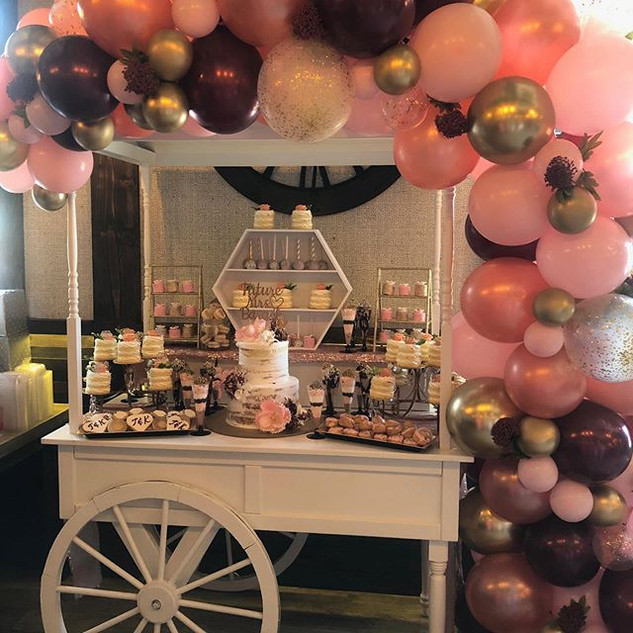 Sweets Bar for a beautiful bride!  #hamp