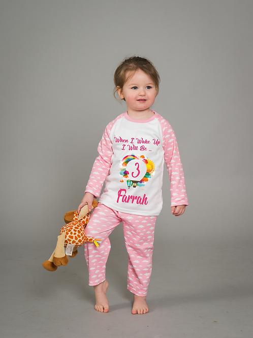 Pink Cloud Birthday Pyjamas