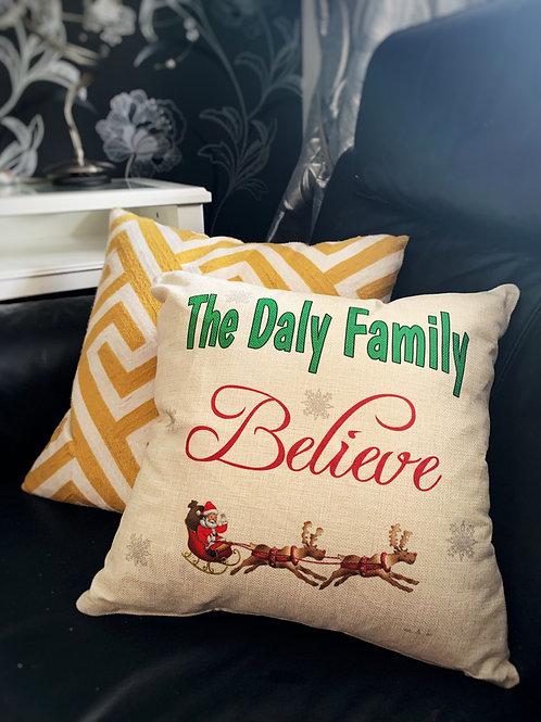 Personalised Christmas Cushion, Christmas Gift,