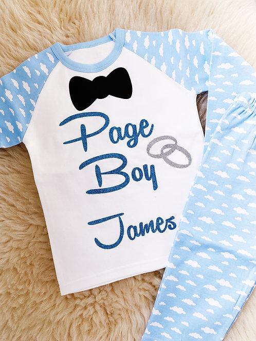 Personalised Page Boy Pyjamas