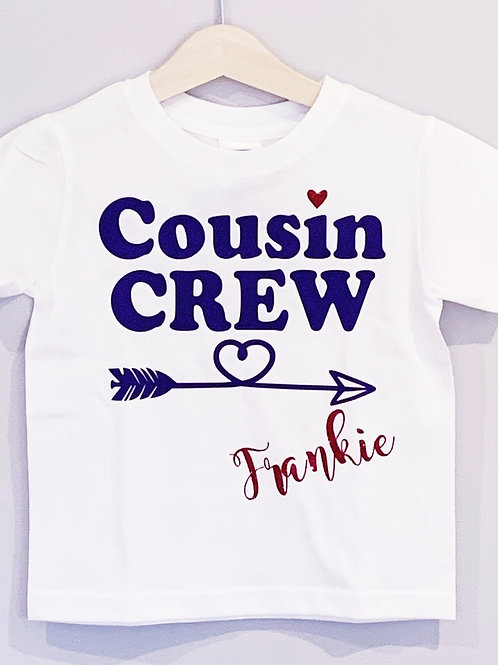 Personalised Cousin Crew T-Shirt