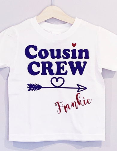 Personalised Cousin Crew T Shirt