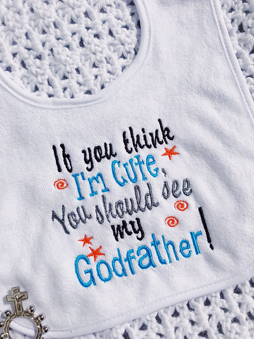 Christening Baby Bib Godfather