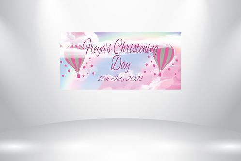 Personalised Christening Banner