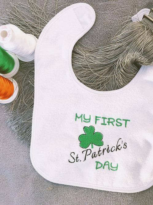 My First St Patricks Day Bib