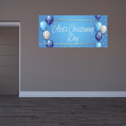 Blue Balloon Banner