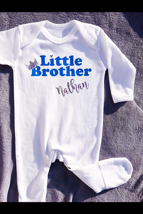 Personalised Little Brother/Sister Baby Grow