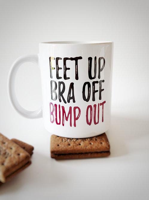 Feet Up Bra Off Bump Out Mug